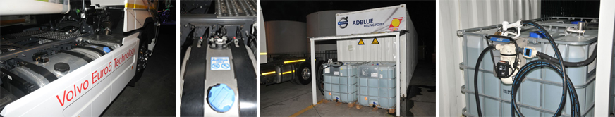 Some trucking companies, like Triton Express, have been testing Euro 5 – in this case with Volvo – in preparation for the future introduction of Euro 5 into South Africa. Triton opted to install its own AdBlue filling station at its depot in Johannesburg. Note the separate tank for AdBlue next to the diesel tank.
