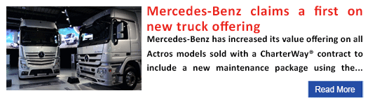 Mercedes-Benz claims a first on new truck offering