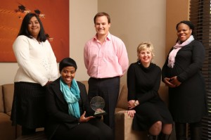 The proud  Imperial Logistics' team with the Corporate Educator of the Year award. From left: Teshnee Harinarain, training coordinator; Bojosi Thukhutha, graduate development manager; Abre van Buuren, training manager; Colette Wessels, training & development executive; and Veronica Mthombeni, skills development facilitator.
