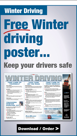 Free Winter driving poster
