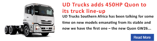 UD Trucks adds 450HP Quon to its truck line-up