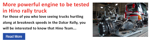 More powerful engine to be tested in Hino rally truck