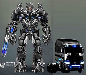How cool is this Freightliner - both in truck and morphed form in the movie 'Transformers: Age of Extinction'.