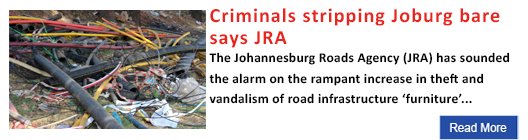 Criminals stripping Joburg bare says JRA