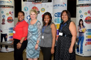Proud of their on-going contribution to uplifting skills are these members of the Imperial Logistics Academy training team. From left: Veronica Mthombeni; Colette Wessels, training and development executive for Imperial; Bojosi Thukhutha; and Teshnee Harinarain