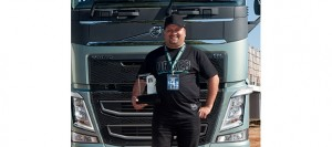 After winning the South Africa finals in June this year, Reggie Naodoo is now heading off to Sweden to compete against 22 other drivers from all over the world in the Volvo Trucks Global Drivers' Fuel Challenge. Go for it Reggie. We're with you all the way.