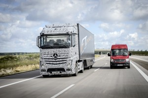 The truck of tomorrow - autonomous driving - drive it - no hands needed.