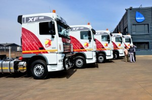 The first big deal for Babcock Financial Services – and the biggest in DAF's history in South Africa - was recently concluded with Ngululu Bulk Carriers where 134 DAF trucks were financed to the tune of R180-million - a great kick-off for this new division.