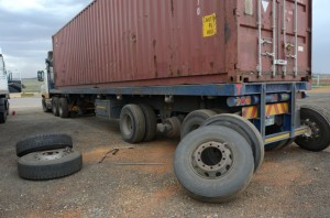 The day after saw some of the trucks being repaired in the holding yard at the weighbridge and test centre after having been discontinued for various faults the previous night. Why do owners have to wait to be taken off the road before doing what should be done before going on the road?