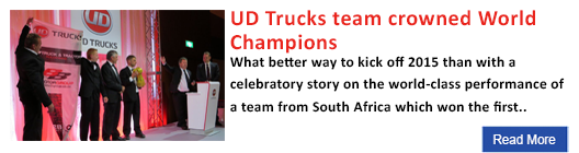 UD Trucks team crowned World Champions