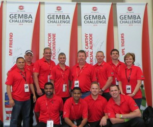 The two teams from South Africa which made it into the world finals: BB Truck & Tractor Polokwane and McCarthy Commercial Vehicles Alrode, with UD Trucks support staff at the recently held Gemba Challenge in Japan.