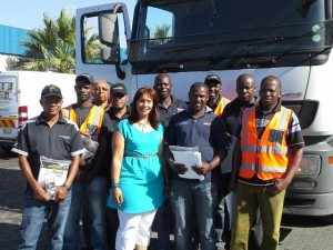 The team from H&M Removals - handed out 50 packs to their drivers.