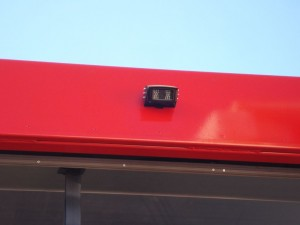 A close-up view of one of the reverse cameras fitted by Serco to assist ABI drivers when reversing.
