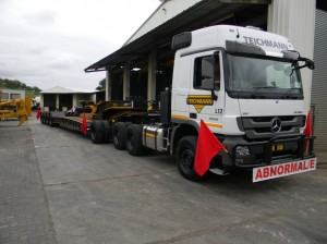The custom-made Martin Trailer Company trailer will be used in cross border operations and complies to all the height and payload specifications of the countries in which it will operate.