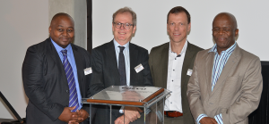 From Left: Automotive Director – Department of Trade and Industry - Sisanda Mtwazi Ambassador of Sweden – Anders Hagelberg Senior Vice President Logistics Services – Christer Svärd Executive Mayor – Ekurhuleni Metropolitan - Mondli Gungubele Sisanda Mtwazi