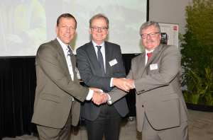 From Left: Senior Vice President Logistics Services – Christer Svärd Ambassador of Sweden – Anders Hagelberg Managing Director of UD Trucks – Rory Schulz