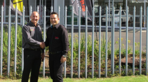 Andrew Antonis, country manager, Aftermarket Southern Africa and Martin Kieser supplier development manager from Bridgestone SA Retail. Happy to have a new product offering in the stable.
