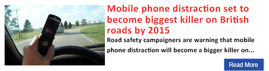 Mobile phone distraction set to become biggest killer on British roads by 2015