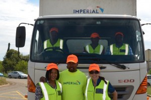 The team from Imperial Road Safety - experiencing the power of Brake and TyreWatch first hand. From left Mpho Maisa, Tebogo Makofane and Niki Cronje.