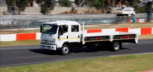 Example of the safer Isuzu Trucks crew-cabs that seats up to 7 people with safety belt.
