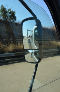 """A large windscreen, large side windows and narrow """"A"""" posts ensure excellent visibility for the driver."""