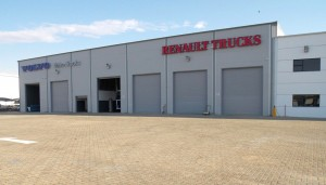 This is the first new dealership that has been built according to the Volvo Group's new multi-brand image in South Africa.