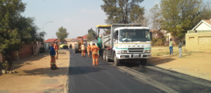 Road repairs are now being resumed following a shortage of bitumen.