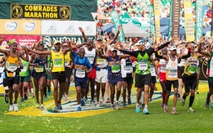 The race for the end of the 27th Comrades Marathon