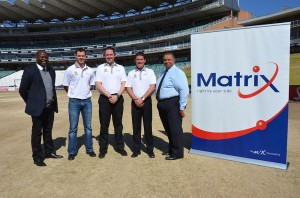 MiX Telematics is taking to the middle of the stadium with the bizbus Highveld Lions via a one-year sponsorship. Happy after announcing the deal are, from left: Thabang Moloe, chairman of bizhub Highveld Lions; Stephen Cook, captain of the bizhub Highveld Lions; Brendan Horan, MD of MiX Telematics (Africa); Grant Fraser, product and marketing director at MiX Telematics (Africa); and Greg Fredericks, CEO of bizhub Highveld Lions.