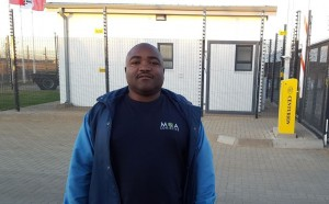 "Driver Ernest Zentu was there to collect a new unit for his company, M&A Logistics, and was thrilled with the driver resting facilities – seen in the background - provided at the new dealership. ""It's comfortable, safe and secure with clean toilets, hot water and a kitchen area for us,"" he told <em>FleetWatch</em>."