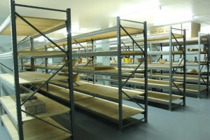 The shelves in the parts warehouse stand ready to receive an initial R2-million parts order placed by the dealership. With Mozambique ramping up its logistics infrastructure – and with trucks being the predominant logistics provider in the region