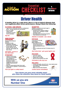 The Driver Health Essential Checklist - part of the popular <em>FleetWatch</em> Drivers Pack.