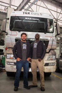 To prove the long-haul capability of the new MAN TGX 26.540 EfficientLine, MAN has embarked on a 14 500km road trip across 10 southern African countries over 52 days. Piloting the TGX in the <em>One MAN Kann</em> odyssey is celebrity adventurer and explorer, Riaan Manser (trained by ProfiDrive), and a professional MAN long-haul driver, Nduna Chari, one of Manline's best long-haul drivers.
