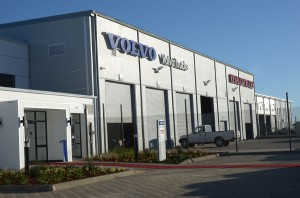 The new flagship dealership for Volvo Trucks and Renault Trucks in Bloemfontein. It is the first of its kind in the region to be specifically planned and developed to reflect the company's multi-brand portfolio.