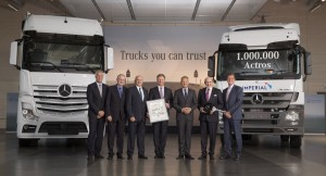 From left to right: <br/>Alexander Müller - Head of Intl. Key Account Management and Bodybuilder Mercedes-Benz Trucks<br/> Gerald Jank - Head of Operations MB Trucks, Wörth Plant, MB Special Trucks<br/> Kobus van Zyl	 - Executive Director: Daimler Trucks & Buses South Africa<br/> Richard Schröter - COO Imperial Transport Solutions<br/> Stefan Buchner - Head of Trucks Europe/Latin America (Mercedes-Benz)<br/> Mark Lamberti - CEO Imperial<br/> Till Oberwörder - Head of Marketing, Sales and Services Mercedes-Benz Trucks<br/>