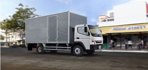 The new medium-duty FUSO FA9–137 truck, the first vehicle to be imported by FUSO Trucks Southern Africa from the Daimler India Commercial Vehicle (DICV) plant in Chennai. With a Gross Vehicle Mass (GVM) of 9.6 tons allowing a payload of up to 5 tons, the 4 X 2 freight carrier configuration can be used in general distribution, courier, bakery, rental  as well as light tipping construction applications.
