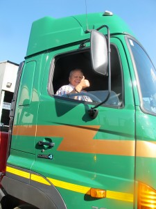 It's thumbs up from Sampie Swanepoel, CEO of Transvaal Heavy Transport, after an on-road evaluation of the newly delivered Hino 700-Series 2848 truck-tractor. A test drive by the THT CEO of all new trucks delivered is a regular part of the hand-over procedure.