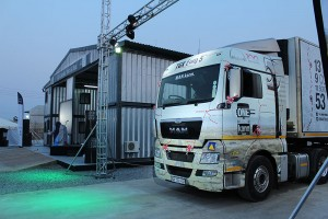 The MAN TGX makes its appearance at the grand opening of the Lusaka dealership.