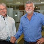 Linking hands to improve driver behaviour on the road using technology as the tool are AON's Deon Grobbelaar (left) and Louis Swart, MD of DriveRisk.