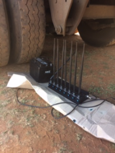 This is the jamming device that was used in the truck hijacking. According to Ctrack, criminals are increasingly investing in technology to commit their crimes with instances of signal jamming occurring on a more frequent basis.