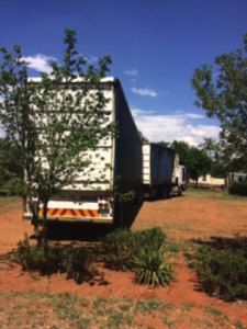 This is the hijacked truck that was recovered by Ctrack at a site littered with other stolen trucks and passenger vehicles.