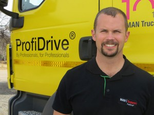 MAN support & projects manager, Dean Temlett, spent a year completing overseas modules that certify him as a ProfiDrive® instructor for the next three years.