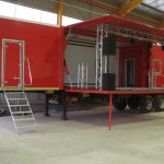 The new events trailer manufactured by Serco for Amalgamated Beverage Industries