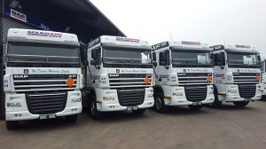 Four of the total of 10 DAF XF 105.460 truck tractors bought by Wozani Berg Gasoline (trading as Sizanani Bulk) from Babcock, the sole importer and distributor of DAF Trucks in southern Africa. Two more of these trucks are currently on order with a further requisition for 15 units pending.