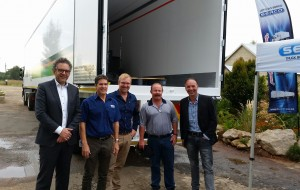 Pictured at one of the Serco customer day presentations held around the country to introduce Loadlok's products are, from left: Johan de Rooij of Loadlok, Clinton Holcroft of Serco, Richard Brownrigg and Jeff Acar of Douglasdale, and Eelco Noort of Loadlok. Serco is now the official distributor for Loadlok in Southern Africa.