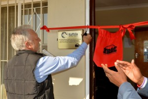 "TRAC CEO, Graham Esterhuysen, officially opens the renovated and upgraded KuPhila Clinic. ""We see each and every town and village along this highway as our neighbours and we are passionate about making them healthy and prosperous again,"" said Esterhuysen in his speech."