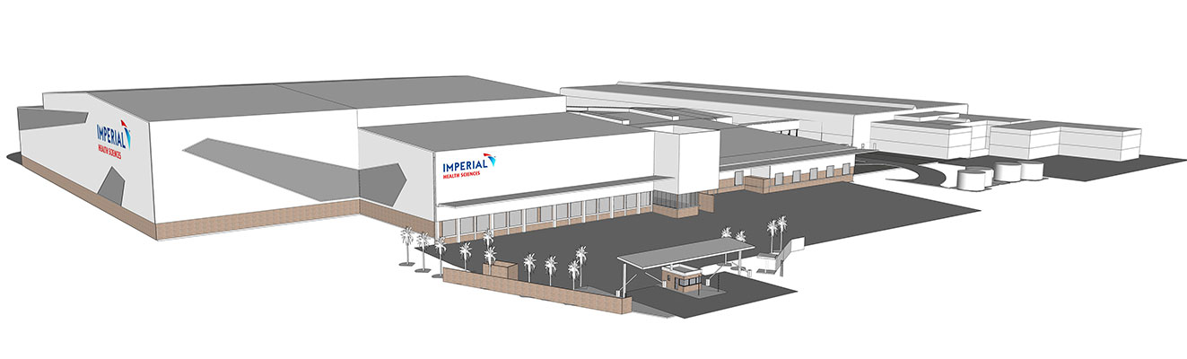An artist's impression of the new multi-million Rand, state-of-the art warehouse and office facilities being built to cater for the expansion and future growth of Imperial Health Sciences.