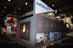 The Imperial Group's exhibition stand at the AIDS 2016 gathering.