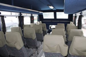The interior of the Nomad Tours trucks have been upgraded over the years. Under the body, the fitment of airbags on the leaf spring suspension system has resulted in a more comfortable ride for the passengers.