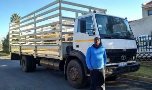 Jack Segae runs one of the transport businesses working with REDISA to assist in alleviating the problem of waste tyres in the country. Segae says that as his business grows, his goal is to continue learning and to develop his skills around tyre recycling. He also wants to educate others about the importance of a clean environment.